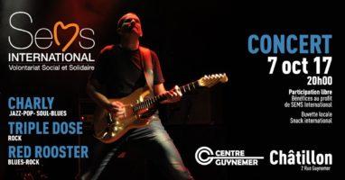 Concert en faveur de Sems International le 7 octobre 2017
